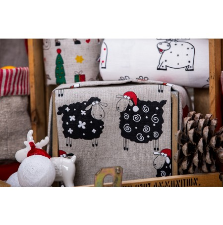 Kitchen Linen Tea Towel Christmas Sheep