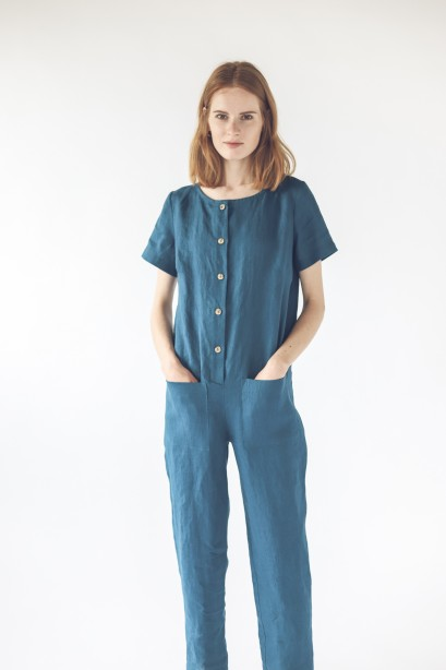 Linen Jumpsuit With Buttons