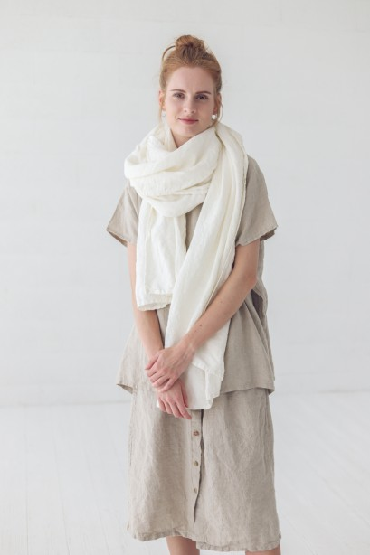 Natural Linen Scarf in Sustainable Gift Box