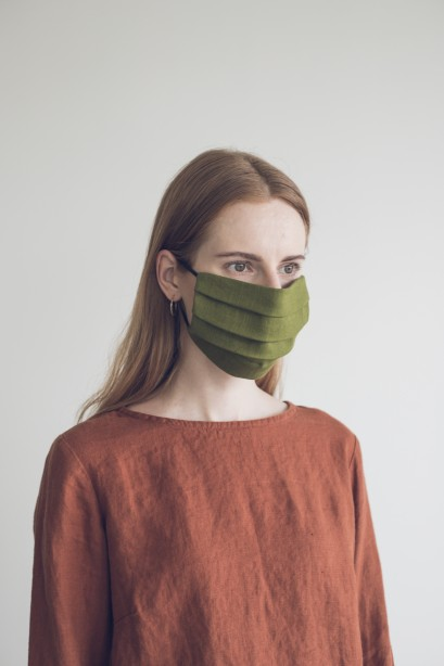 Protective Face Mask 100% Linen Reusable 4 Layers