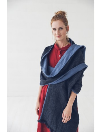 LINEN SCARF SHAWL in Sustainable GIFT BOX