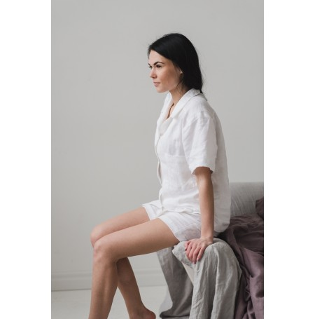 Linen pajamas white