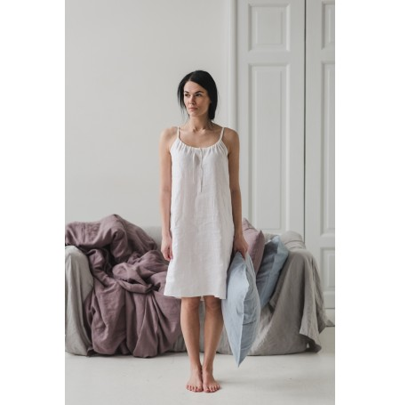 linen Nightdress white