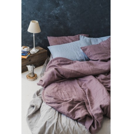 Soft Linen Duvet Cover Dusty Purple