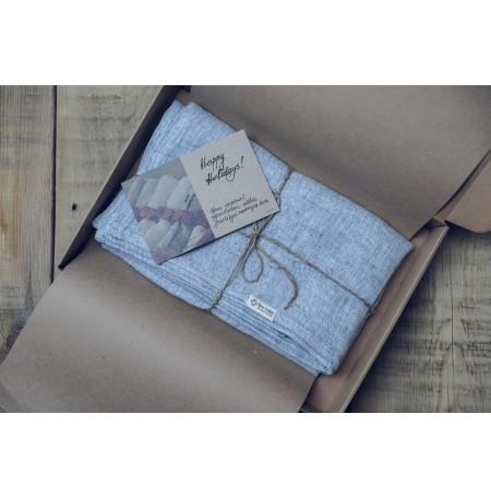 Gauze Linen Scarf in Sustainable Gift Box
