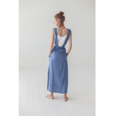 READY TO SHIP / Women Linen Skirt with Straps