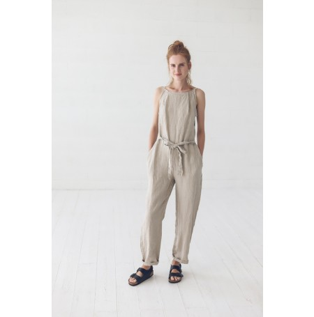 Linen Jumpsuit Overall
