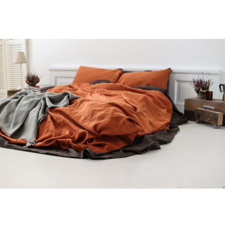 Linen Flat Sheet Coffee