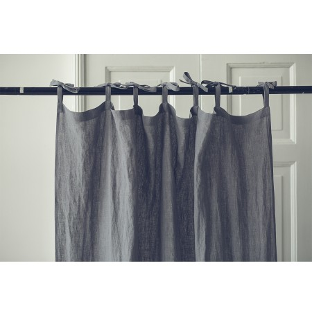 WIDE STONEWASHED NATURAL LINEN CURTAINS