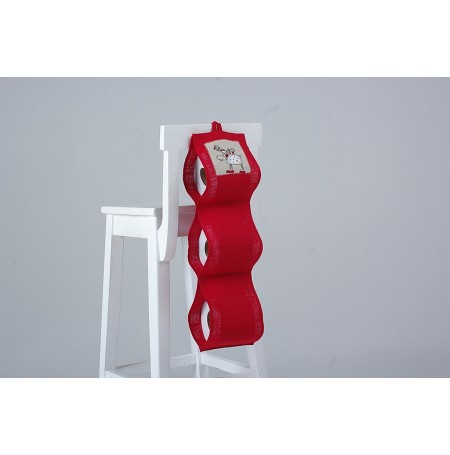Toilet Paper Roll Holder Red Christmas