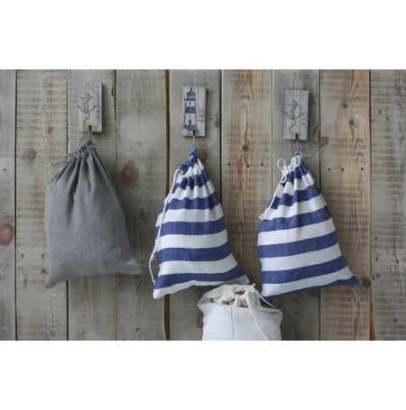 Set of 2 Drawstring Linen Laundry Bags