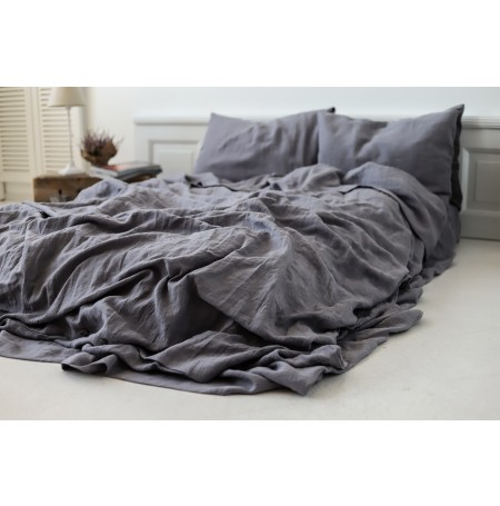 Soft Linen Duvet Cover Neutral Grey