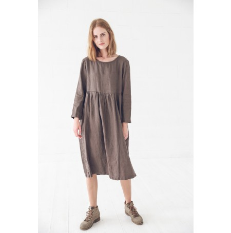 READY TO SHIP / Linen Long Sleeves Dress