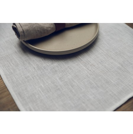 Set of 2 White Stonewashed Linen Placemats