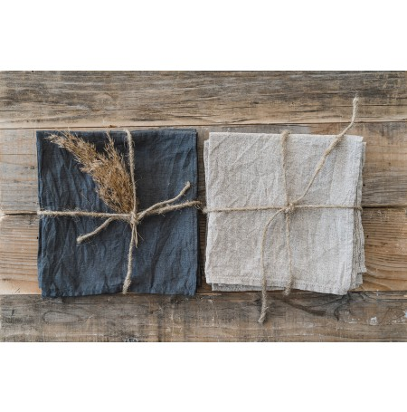 Set of 3 Stonewashed Linen Napkins