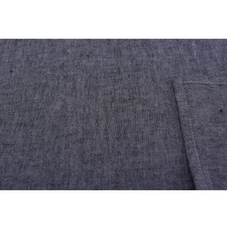 Gray-Black Melange Plain 100 % Linen Fabric by Meter